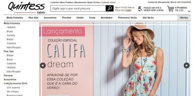 Quintess Lojista O Atacado de moda online.